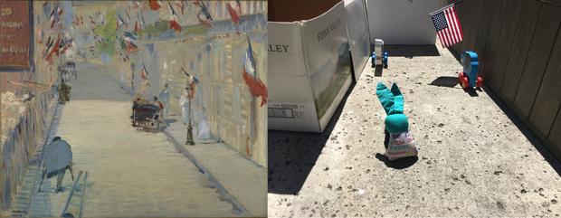 Фото №10 - Люди в карантине копируют шедевры живописи из всего, что под рукой: 13 удачных работ