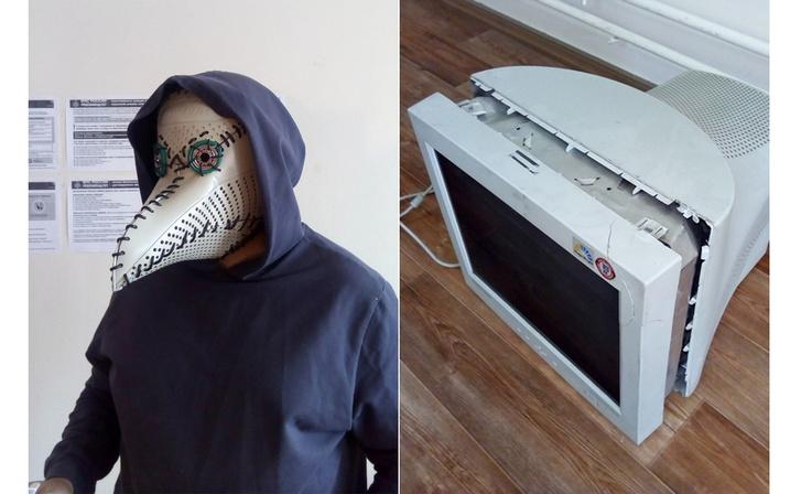 Фото №1 - Русский айтишник показал, как сделать маску чумного доктора из корпуса старого компьютера (фотоинструкция)