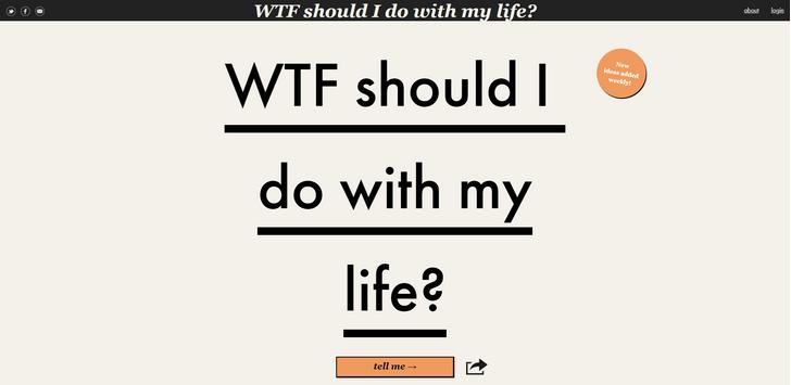 Фото №1 - Сайт дня: Узнай, что тебе делать со своей жизнью