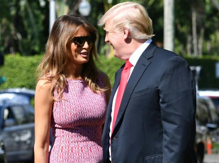 Фото №1 - Дональд и Мелания Трамп вместе встретили Пасху (развод отменяется?)