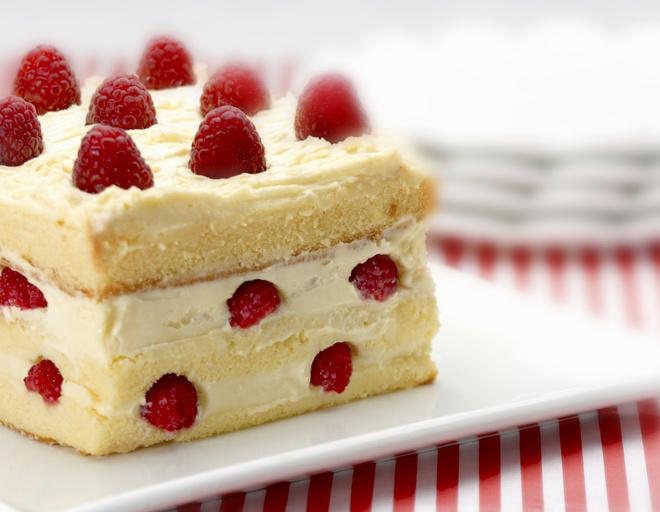 бисквитный сметанный торт