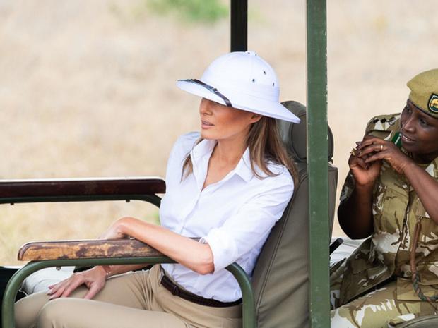 Фото №6 - Миссис эпатаж: самые скандальные образы Мелании Трамп в роли Первой леди