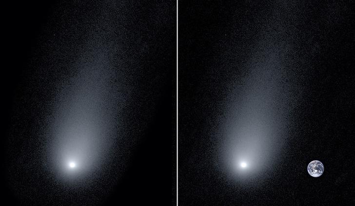 Фото №1 - Ученые измерили длину хвоста первой межзвездной кометы