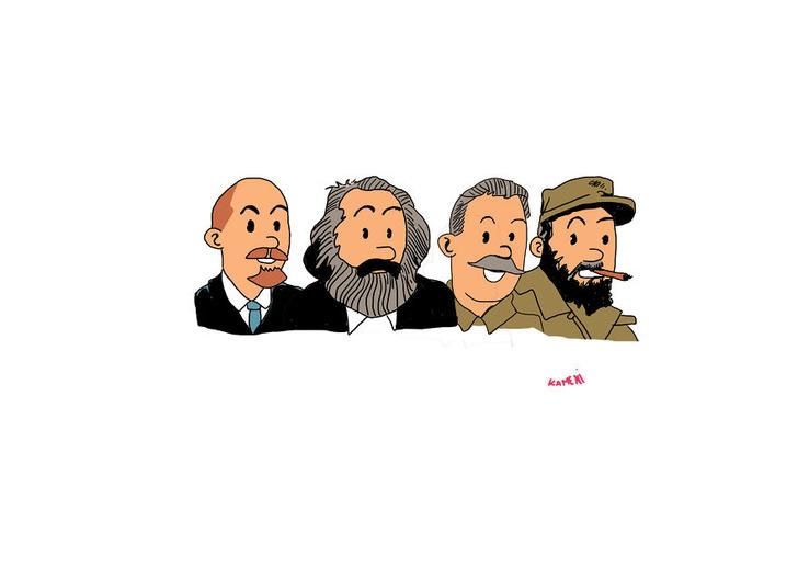 Фото №10 - Художник превратил персонажей мультфильмов в Ленина, Сталина и других вождей коммунизма