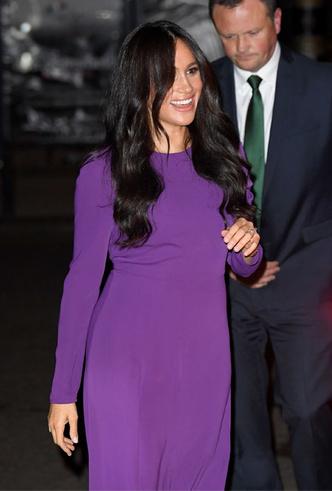 Фото №4 - 10 впечатляющих платьев в фиолетовой гамме, как у герцогини Меган