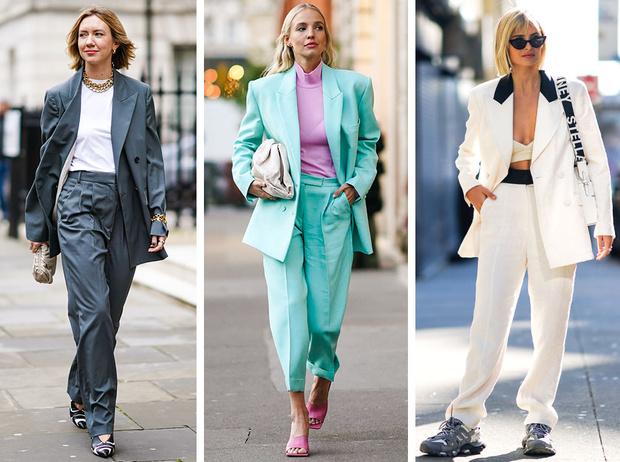 Фото №1 - С чем носить брючный костюм: 7 стильных сочетаний на каждый день