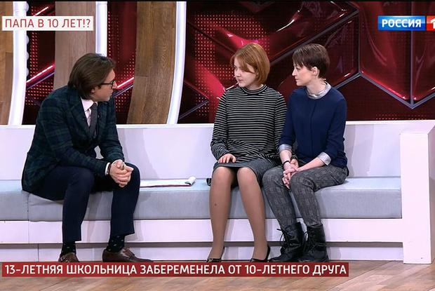 Даша и ее мама у Андрея Малахова