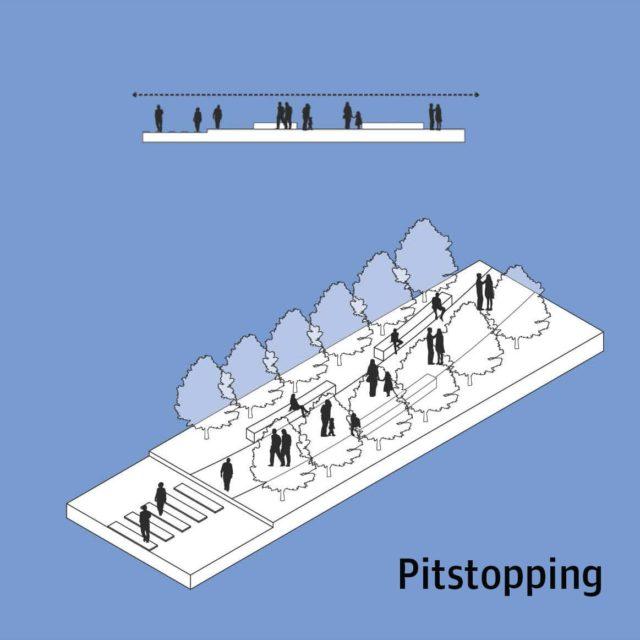 Чем больше велодорожек, переходов и прочих препятствий, тем медленнее будут идти люди.
