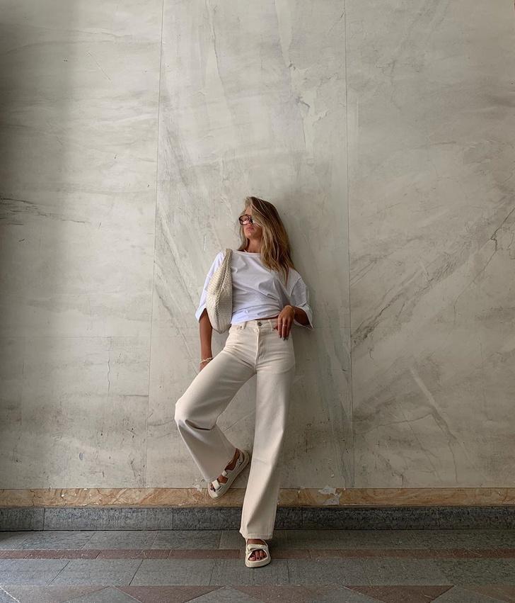 Фото №2 - Сочетайте в одном образе разные оттенки белого, как это делает инфлюенсер Ханна Шонберг