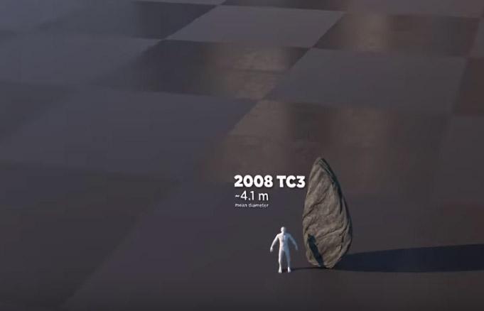 Фото №2 - Размеры известных науке астероидов в сравнении с земными объектами (видео)