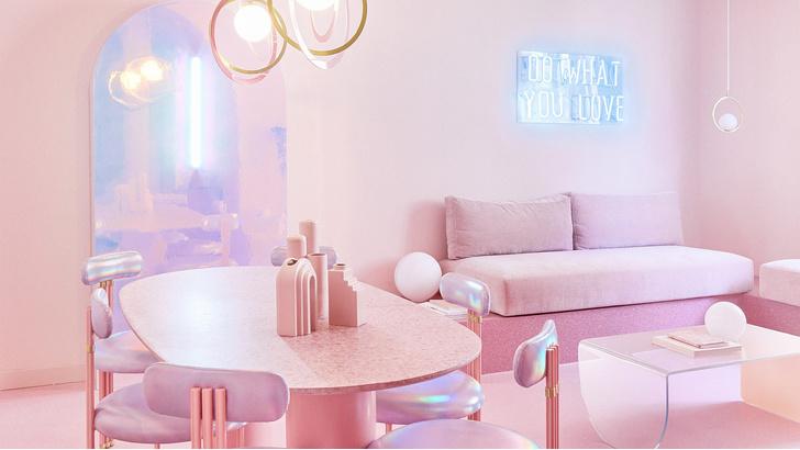 Фото №1 - Розовая квартира в центре Мадрида
