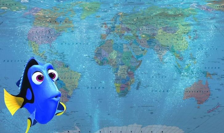 Фото №1 - Как бы выглядела карта мира с точки зрения рыб