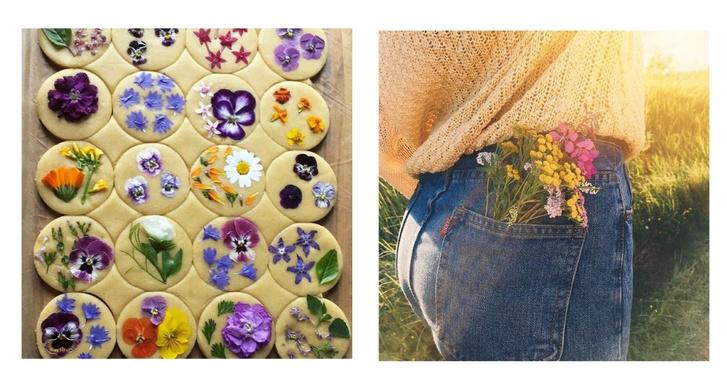 Фото №1 - Фуд-тренд: ванильное печенье со съедобными цветами— лучшее украшение для вашего пикника