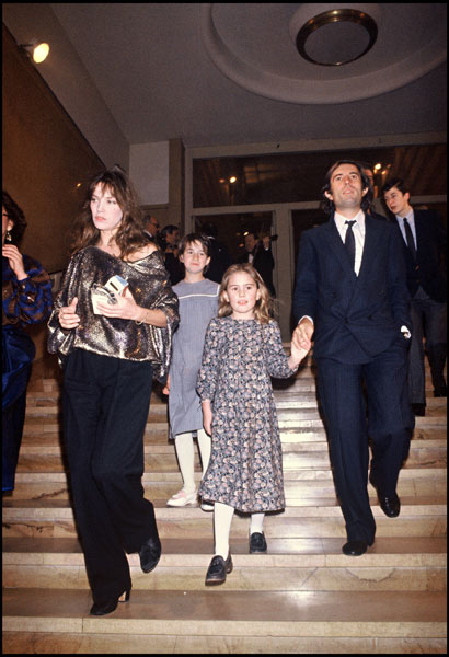 Джейн Биркин с детьми, 1982 год
