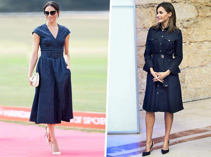 Фото №1 - 10 восхитительных джинсовых платьев, как у Меган Маркл и королевы Летиции