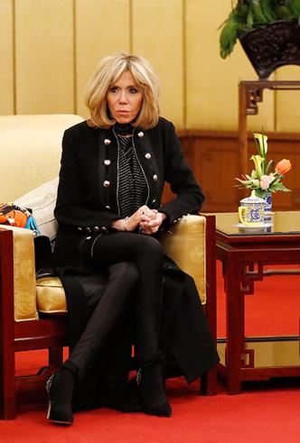 Фото №5 - Лучше, чем Мелания: 5 идеальных нарядов Брижит Макрон в Китае