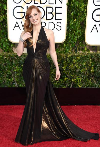 Джессика Честейн золотой глобус 2015
