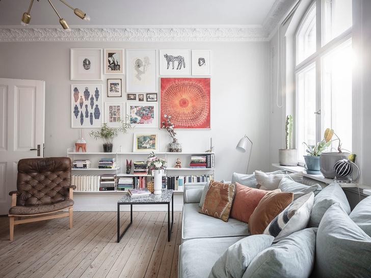 Фото №8 - Уютная скандинавская квартира с микро-спальней в Гетеборге