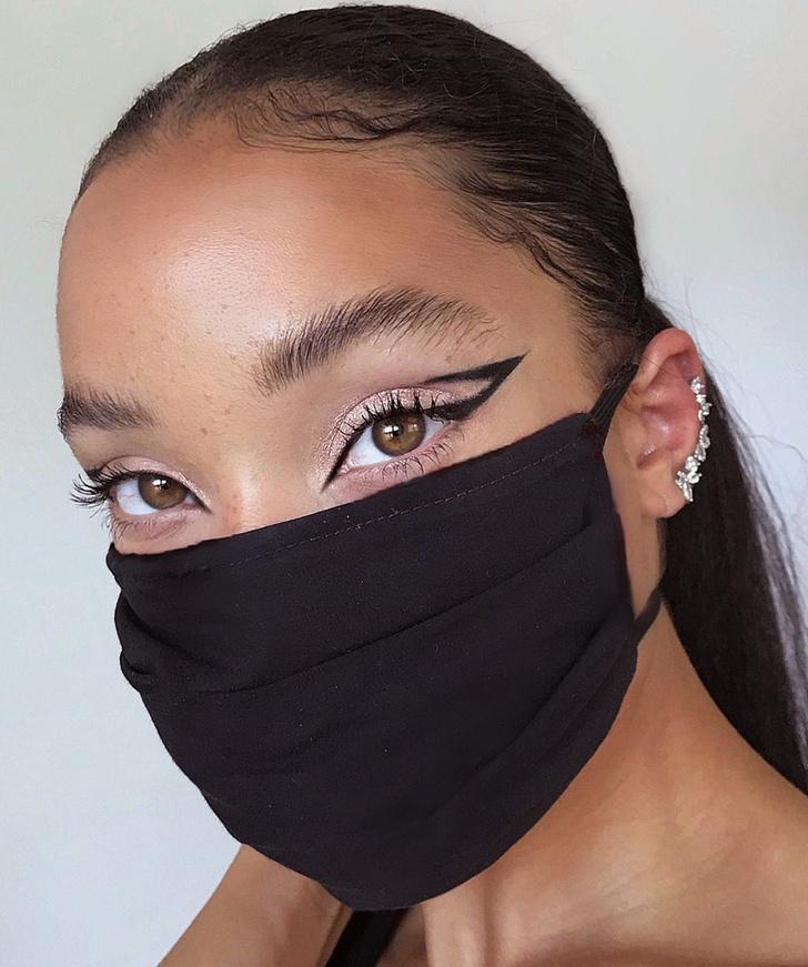 Фото №2 - Посткарантинный тренд: макияж под цвет маски