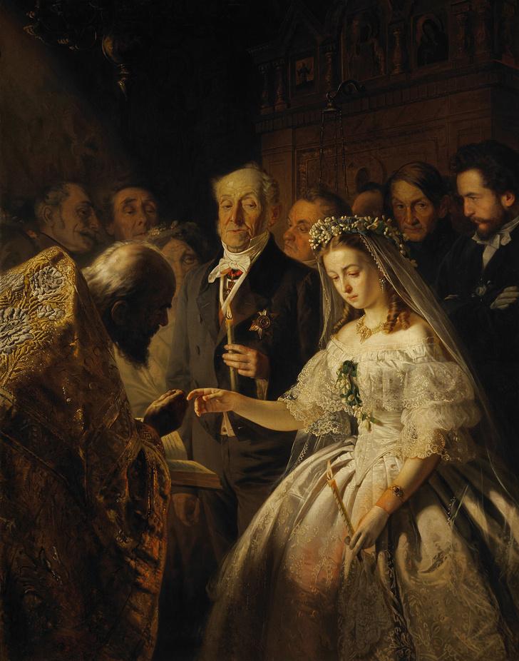 Фото №1 - Жуткий скандал: история картины «Неравный брак»