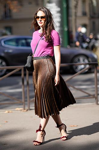Фото №17 - Как носить самые модные юбки сезона: мастер-класс от звезд street style хроник