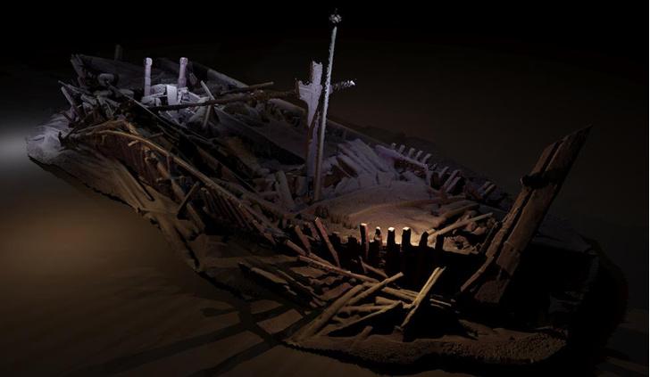 Фото №1 - На дне Черного моря обнаружено кладбище древних кораблей