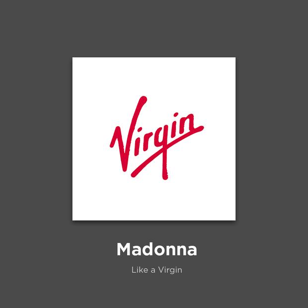 Фото №3 - 27 альбомов поп- и рок-звезд в виде известных логотипов