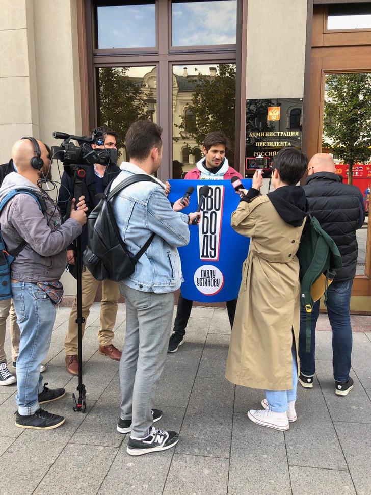Фото №4 - В Москве началась серия одиночных пикетов в поддержку осуждённого на 3,5 года Павла Устинова (фото и видео)