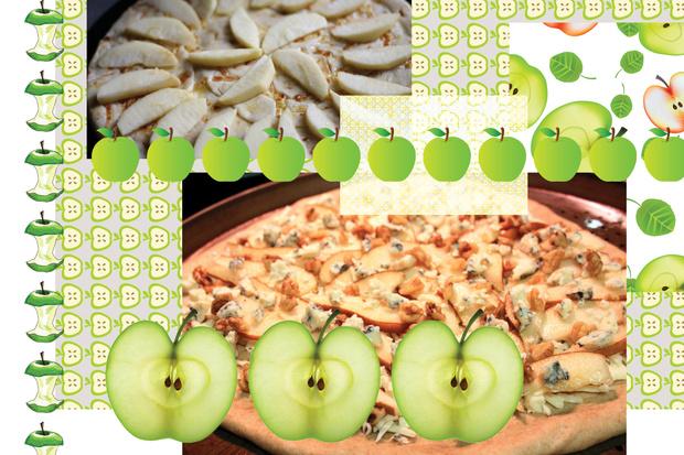 Пицца с яблоком и горгонзолой