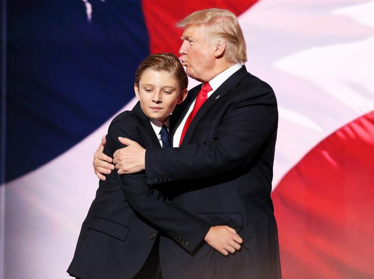 Фото №1 - Чем жизнь Бэррона Трампа отличается от жизни детей других президентов