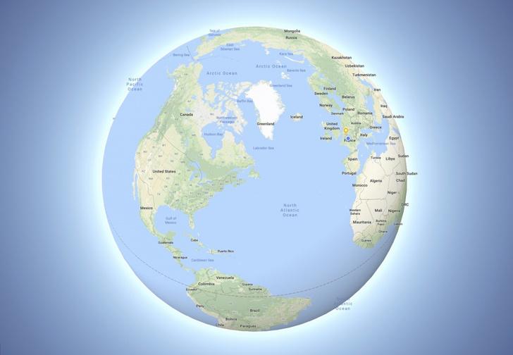 Фото №1 - В Google Maps сделали Землю круглой