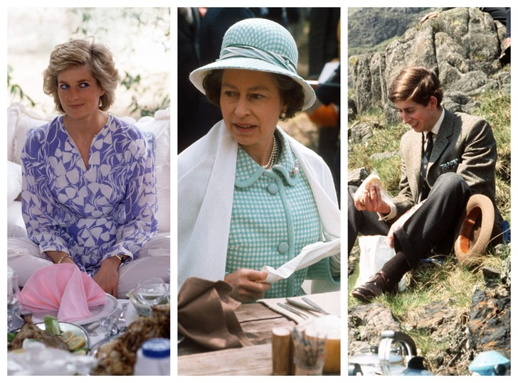 Фото №1 - Как простые люди: самые колоритные фото королевских пикников