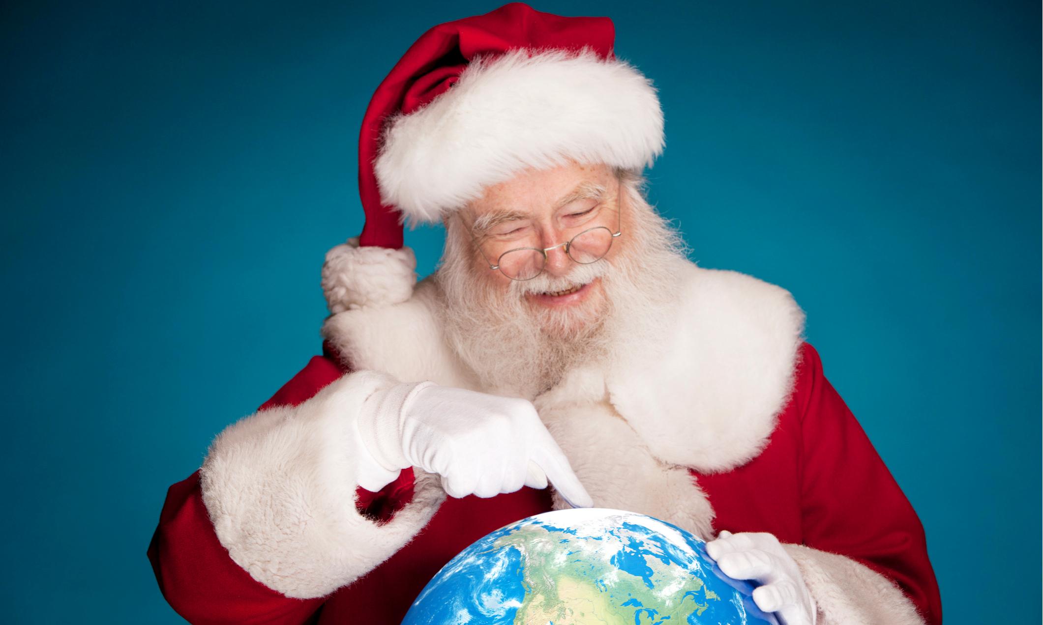 картинки деда мороза на северном полюсе