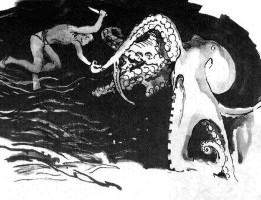 Фото №1 - Схватка с осьминогом