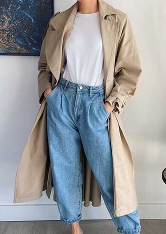 Фото №1 - Тренд: с чем носить джинсы-слоучи в повседневной жизни