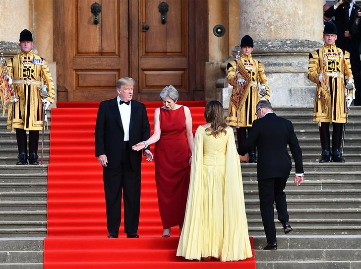 Фото №9 - Мелания Трамп «украла шоу» на гала-ужине в Бленхеймском дворце