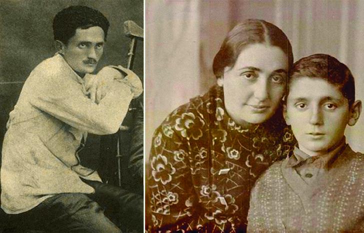 Молодой Нестор Лакоба. Сария Лакоба с сыном Рауфом