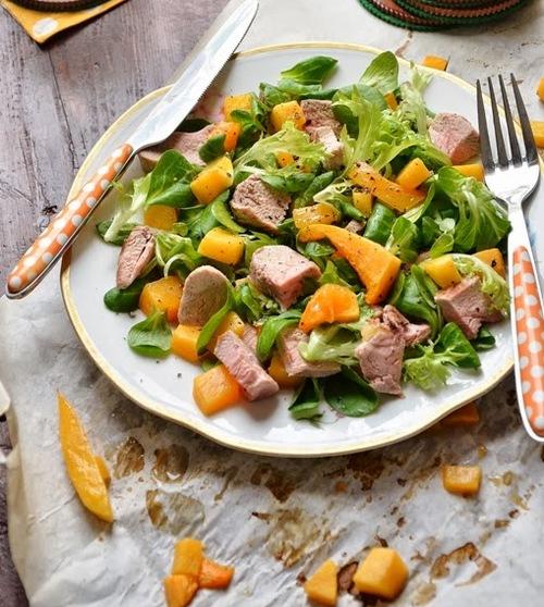Салат с печеной тыквой,