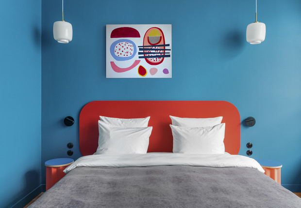 Фото №3 - Цветные сны: Color Blocking в спальне