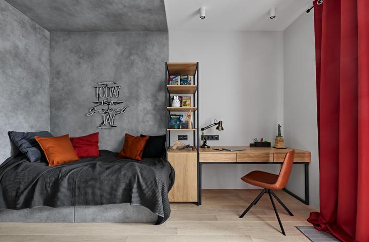 Фото №9 - Бетонная квартира 115 м² с камином в Санкт-Петербурге