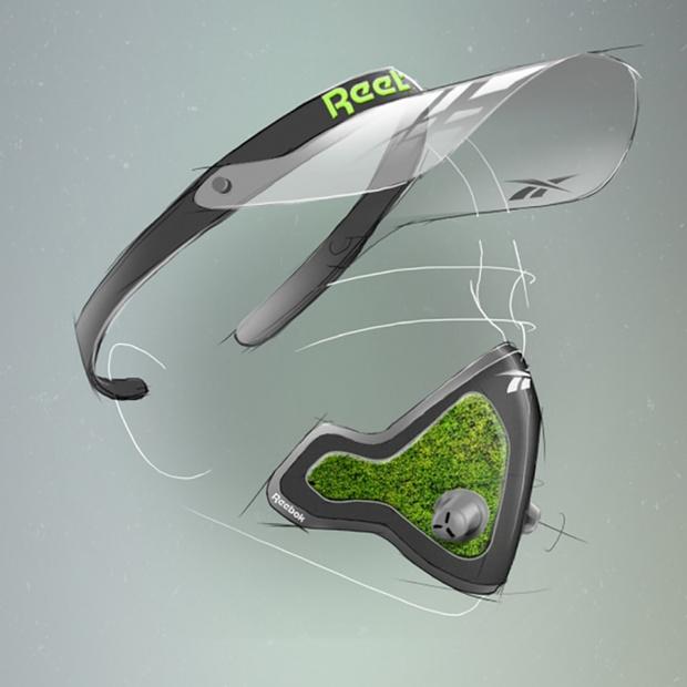 Фото №3 - Reebok показал концепт противовирусной маски для спорта и плавания со мхом вместо фильтра
