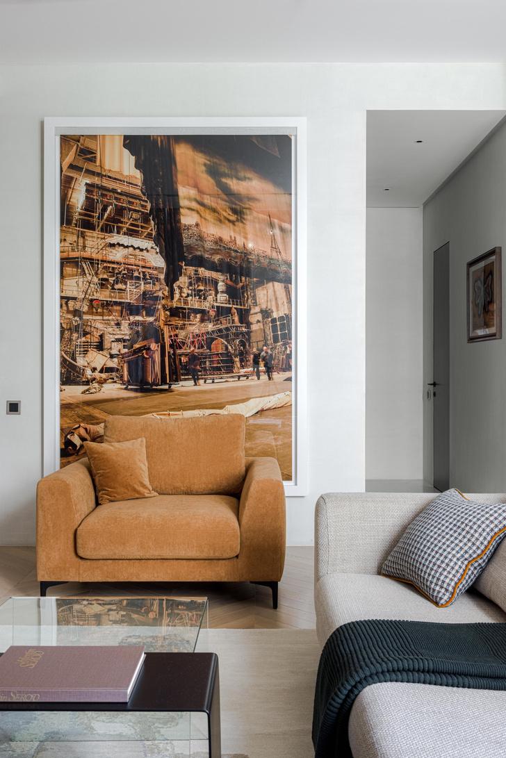 Фото №8 - Московская квартира 130 м² в оливково-кофейной цветовой гамме