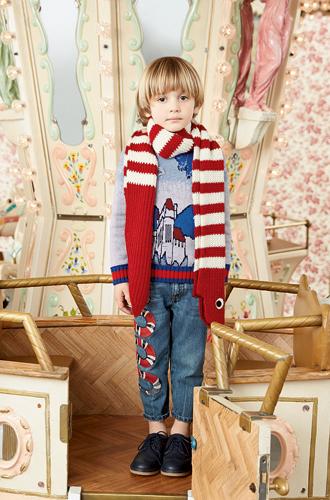Фото №37 - Золотая карусель: лукбук осенне-зимней детской коллекции Gucci 2016/17