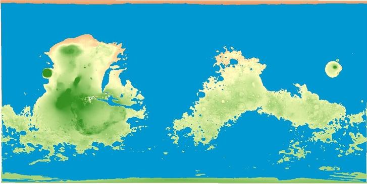 Фото №2 - Как выглядела бы карта Марса, если бы он был покрыт водой, как Земля