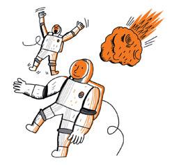 Фото №1 - Какие звуки слышны в открытом космосе?