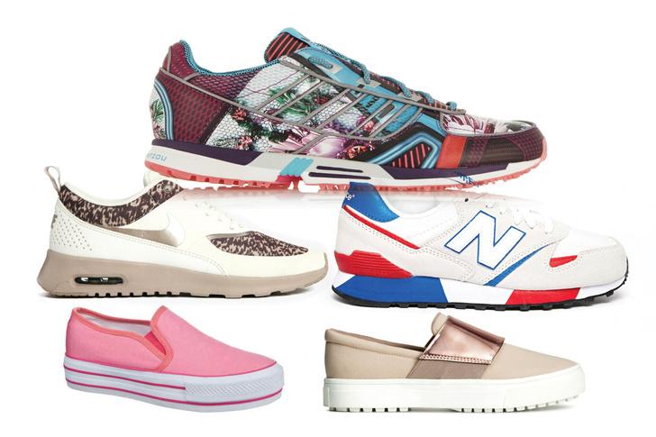 Кроссовки, adidas Originals; кроссовки, Nike Air Max; кроссовки, New Balance, 7 600 руб.; слипоны, Keddo; слипоны, H&M