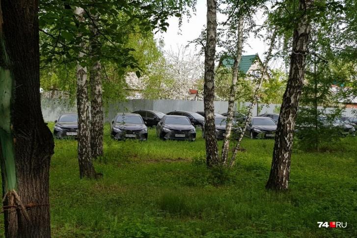 Фото №1 - В лесу под Челябинском нашли десятки новых иномарок
