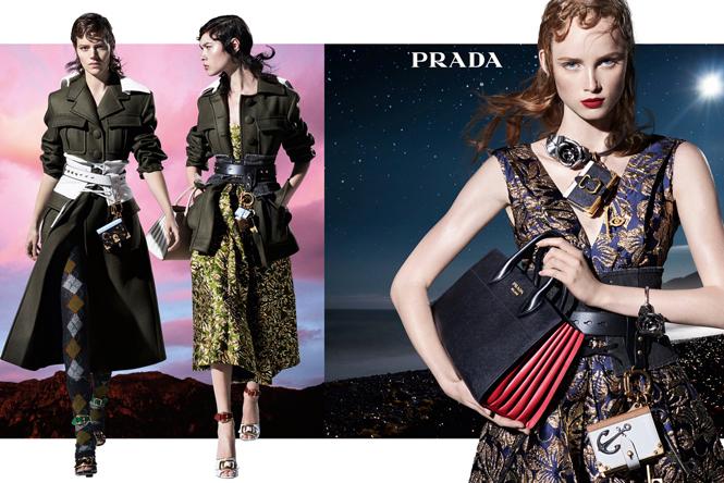 Фото №1 - 27 ярких моделей в осенней рекламной кампании Prada