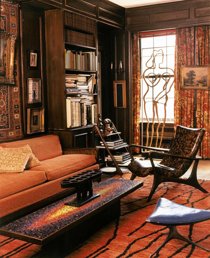 Библиотека в нью-йоркских апартаментах