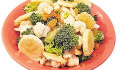 Салат с цветной капустой, брокколи и бананами
